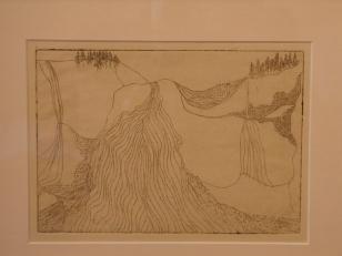 """Rockface"" Diane deFremery, etching"