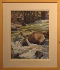 """Mountain Stream"" Terry Davis, oil on canvas"