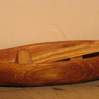 """Canoe"" Barb Drew, Wood Carving"