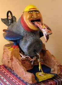 """MolyBird Nesting"" Spencer Floyd, mixed media"