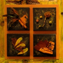 """""""Remnants of Wild"""" Sheila Grace Wellspring, mixed media assemblage"""