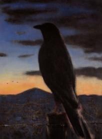 """Ute Mountain Raven"" Min Jae Hong, oil on canvas"