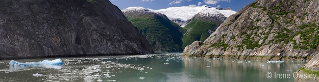 View of Tracy Arm near Sawyer Glacier.  Tracy Arm-Ford's Terror Wilderness, Tongass National Forest, Southeast Alaska.