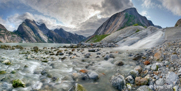[FEATURED IN SMITHSONIAN EXHIBITION] Glacial stream, Endicott Arm.  Tracy Arm-Ford's Terror Wilderness, Tongass National Forest, Southeast Alaska.